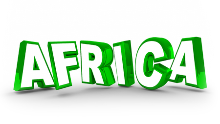 Africa Word Letters Continent Geography 3d Illustration