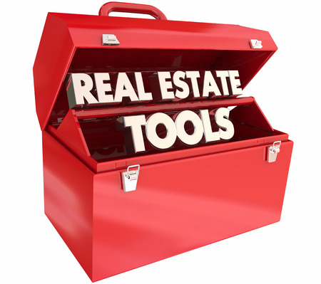 Real Estate Tools Agency Toolbox Agent Tips Advice 3d Illustration Stock Photo
