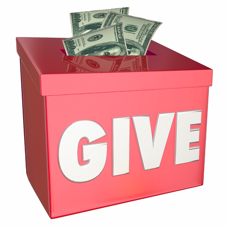 Give Money Collection Donation Box Charity 3d Illustration