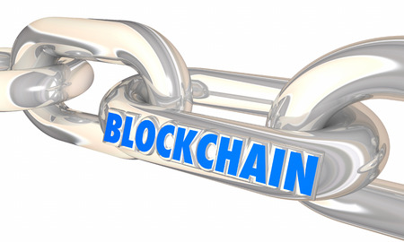 Blockchain Links Security Data Transactions 3d Illustration Stock Photo