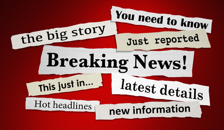 Breaking News Important Headlines Latest Updates 3d Illustration
