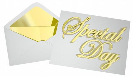 Special Day Invitation Envelope Party Celebration 3d Illustration Stock Photo
