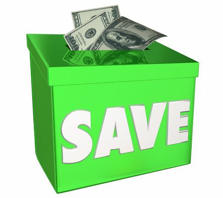 Save Money Bank Deposit Box Saving for Future 3d Illustration