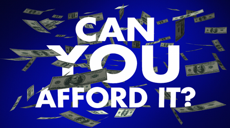 Can You Afford It Money Falling Words 3d Illustration