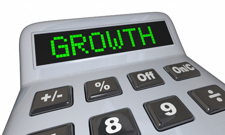 Growth Calculator Adding Income Money Increase Savings 3d Illustration