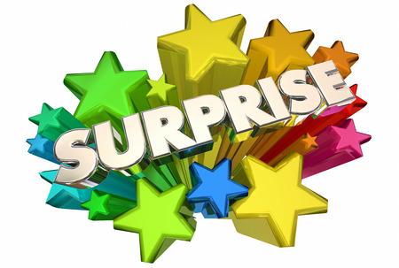 De verrassing speelt Grote Aankondigingsword 3d Illustratie mee
