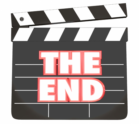 The End Movie Clapper Board Final Scene Film 3d Illustration