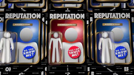 Reputation People Action Figures Best Trusted Expert 3d Illustration