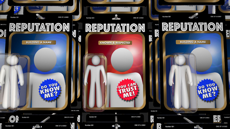 Reputation People Action Figures Best Trusted Expert 3d Illustration