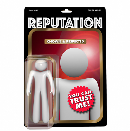 Reputation Most Trusted Person Action Figure 3d Illustration Stock Photo