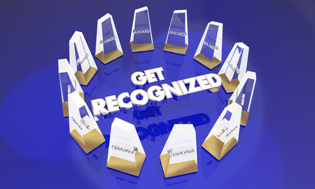 Get Recognized Awards Appreciation 3d Illustration Stock Photo