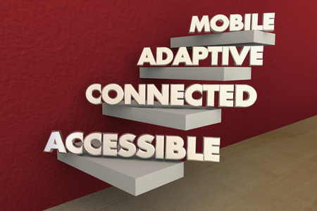 Mobile Adaptive Connected Accessible Network 3d Illustration 版權商用圖片 - 92687459
