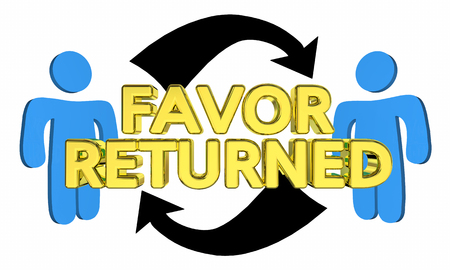 Favor Returned People Share Returning Thanking 3d Illustration Imagens - 92660978