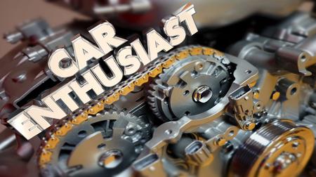 Car Enthusiast Engine Motor Automotive Lover Fan 3d Illustration