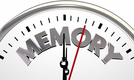Memory Time Passing Clock Losing Memories 3d Illustration Stock Photo