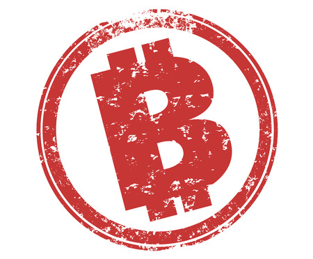 Bitcoin Stamp Cryptocurrency Official Payment 3d Illustration