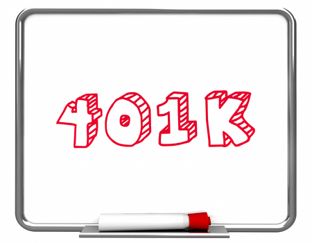 401K Investment Planning Save Retirement Money 3d Illustration