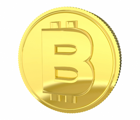Bitcoin Gold Coin Cryptocurrency Digital Money System 3d Illustration