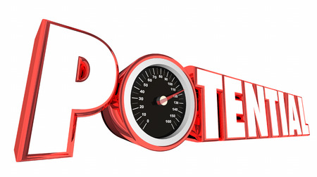 Potential Speedometer Fast Growth Success Possibility 3d Illustration