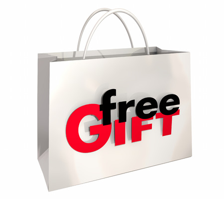 Free Gift Shopping Bag Purchase Premium 3d Illustration