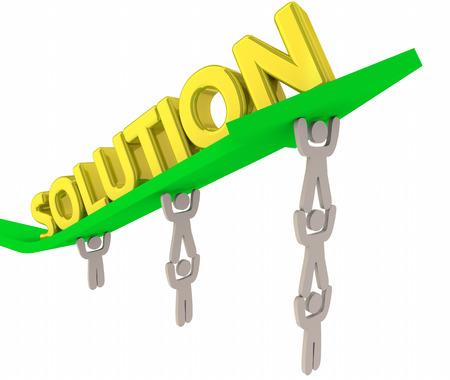 Solution People Working Together Solving Problem 3d Illustration Stock Photo