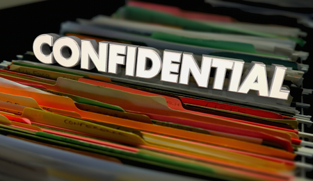 Confidential File Folders Personal Documents 3d Illustration Stock Photo