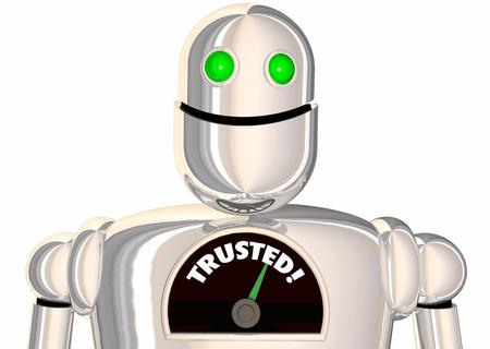 Trusted Robot Speedometer Measurement Level 3d Illustration