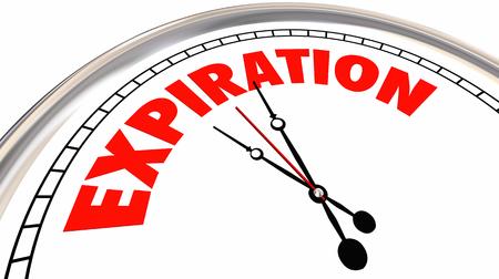 Expiration Clock Time Up Deadline Expiry Date 3d Illustration