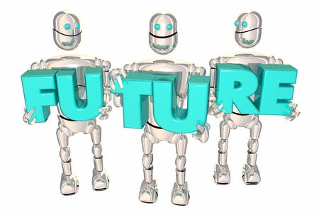 Future Robots New Technology Automation AI 3d Illustration