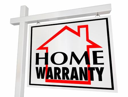 집 보증 집 판매에 대 한 서명 보장 3d 일러스트