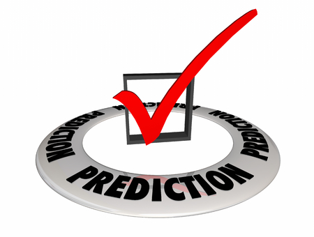 Prediction Guess Estimate Future Check Box Mark 3d Illustration Stock Photo