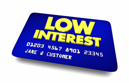 Low Interest Credit Card Best Choice Cheapest Option 3d Illustration