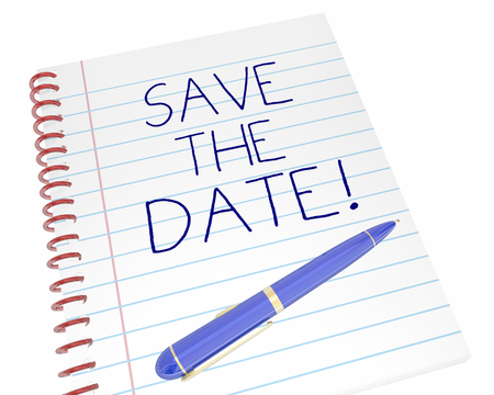 Save the Date Notepad Pen Event Schedule Reminder 3d Illustration