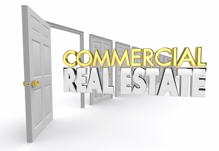 Commercial Real Estate Office Location Agent Agency 3d Illustration Stock Photo