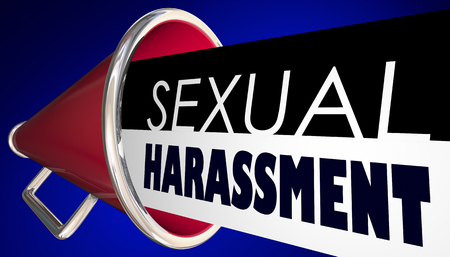 Sexual Harassment Bullhorn Megaphone Call Out Abuse 3d Illustration