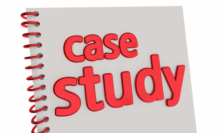Case Study Book Report Example Document 3d Illustration