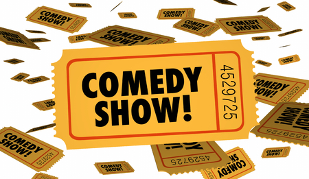 Comedy Show Stand Up Ticket Admission 3d Illustration Stock Photo