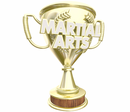 Martial Arts Trophy Top Prize Award 3d Illustration