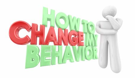 How to Change My Behavior Improve Self Help 3d Illustration Reklamní fotografie