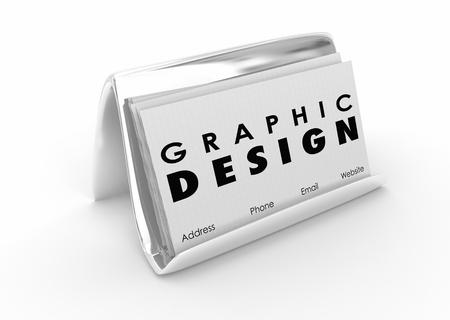그래픽 디자인 명함 아티스트 디자이너 3D 일러스트 레이션