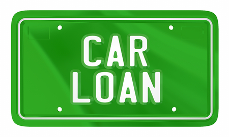 Car Loan Borrow Money Vehicle Purchase Credit 3d Illustration