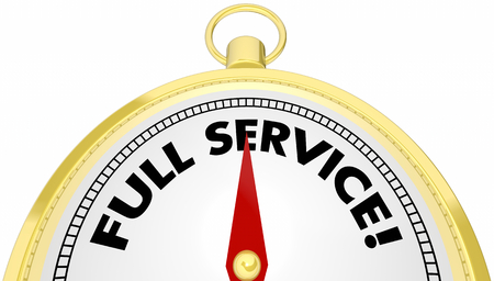 Full Service Compass Total Customer Support 3d Illustration