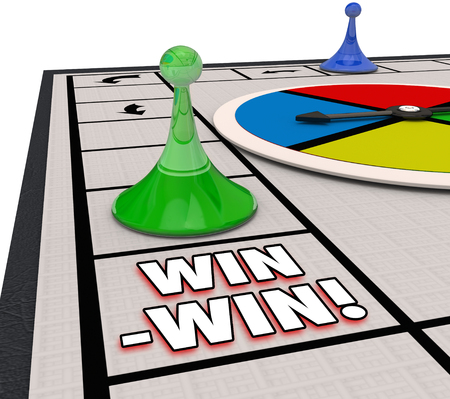 Win-Win Situation Board Game Opportunity 3d Illustration