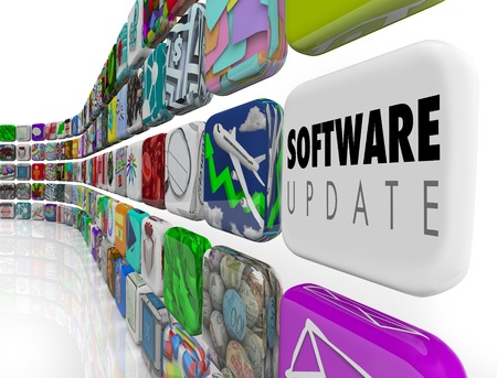 Software Update Apps New Features 3d Illustration Stok Fotoğraf