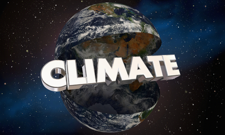 Climate Word Earth Planet World Environment Change 3d Illustration - Elements of this image furnished by NASA