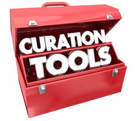 Curation Tools Resources Curate Content Toolbox 3d Illustration Stock Photo