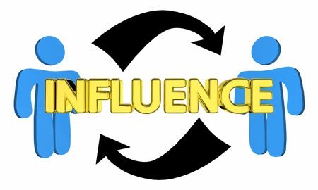 Influence Mutual Persuasion Two People Communication 3d Illustration Stock fotó