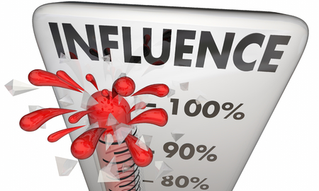 Influence Persuasion Thermometer Measure Power 3d Illustration Stock fotó