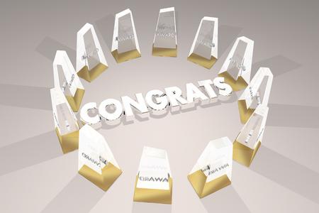 Congrats Awards Special Honors Congratulations 3d Illustration