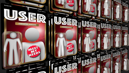 User Audience Targeted People Customers Action Figures 3d Illustration Reklamní fotografie - 93265113